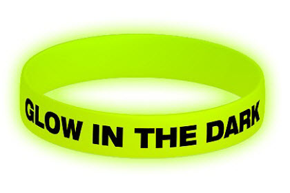 bedrukte siliconen armband glow-in-the-dark