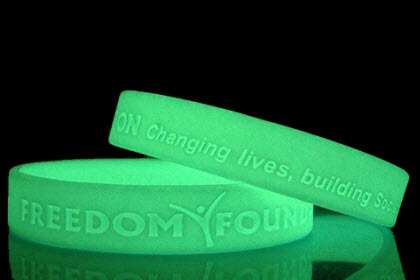 siliconen polsbandjes glow-in-the-dark