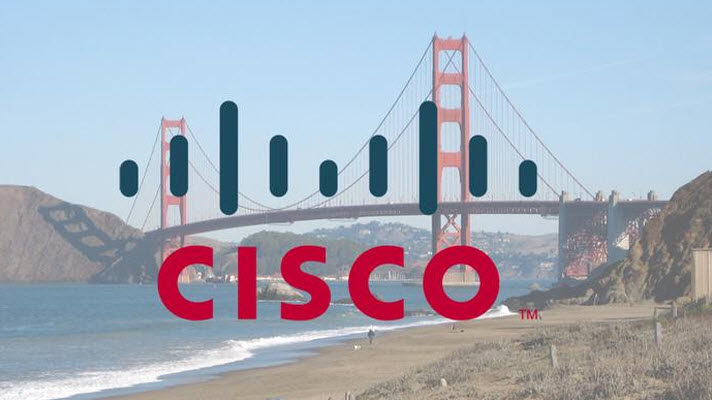 golden gate brug in het logo van cisco