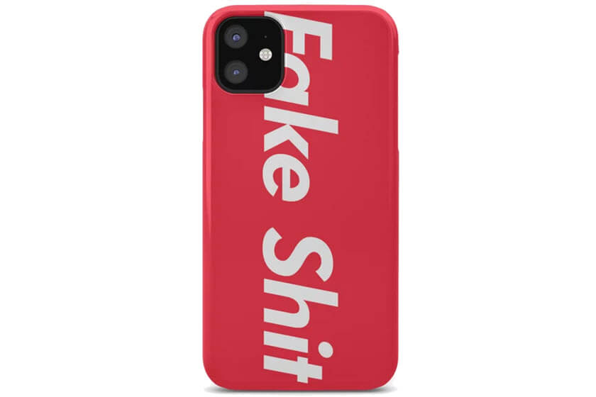 rode softcase iphone hoesjes met logo