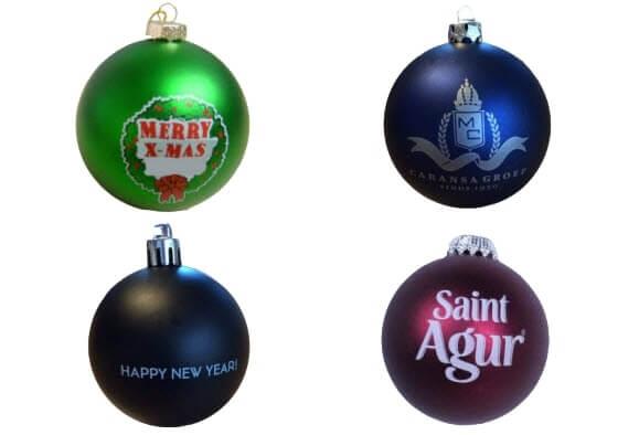 Kerstballen Bedrukken Met Logo Goedkoop Snel Jm Promotions
