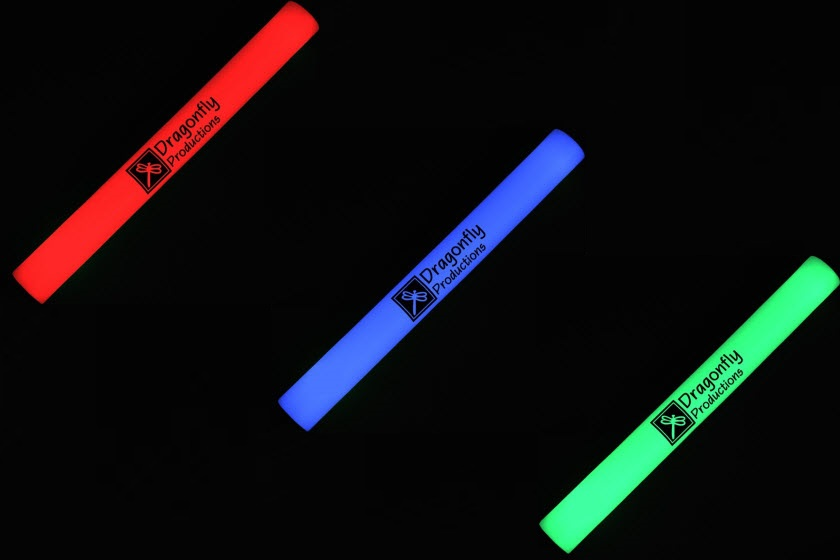 led foam sticks met logo bedrukt