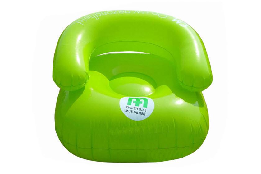 Opblaasbare stoelen bedrukken met logo jm promotions