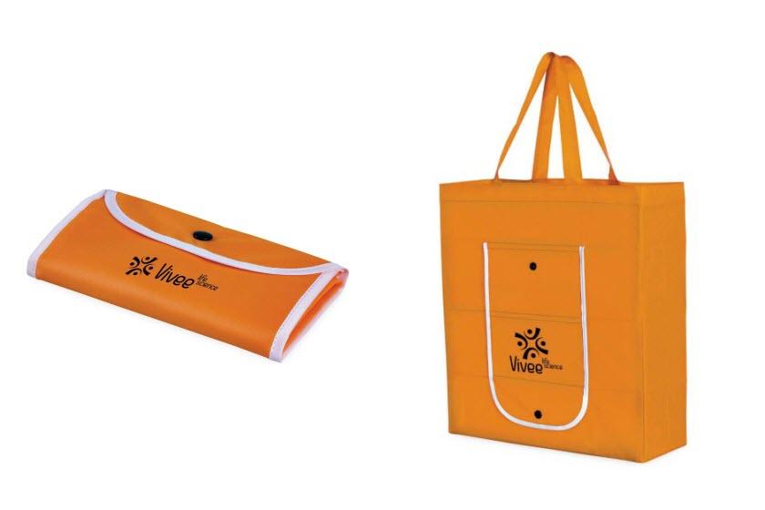 Bedrukte Strandtassen : Opvouwbare tassen bedrukken met logo jm promotions