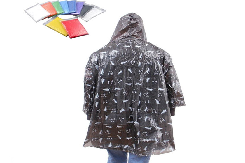 ponchos met all over bedrukking