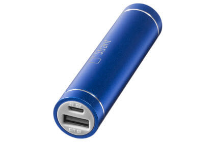 blauwe powerbanks bedrukken