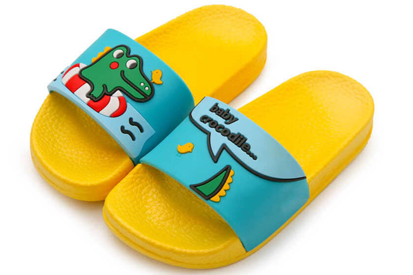 kinder slippers met bedrukking