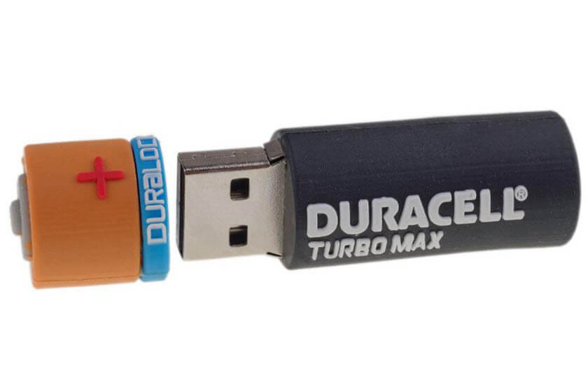 bedrukte usb stick pizza vorm