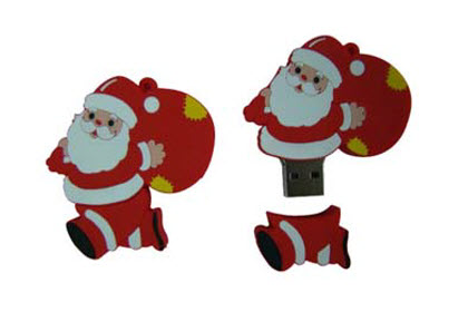 kerstman usb-sticks bedrukken
